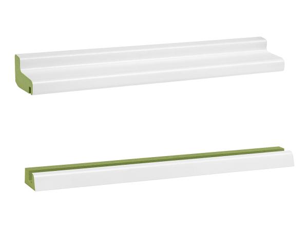 Ober- und Unterteil Feuchtraum Heizungsrohrverkleidung MDF, RAL9016