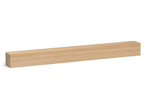 Quadratstab Massivholz Kiefer roh (28 x 28 mm)